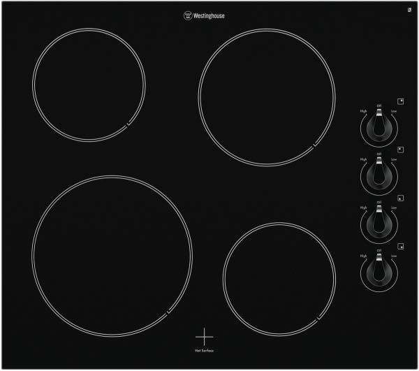 Westinghouse WHC642BA 60cm Electric Ceramic Cooktop – $490